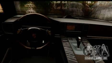 Porsche Panamera Turbo para GTA San Andreas vista interior