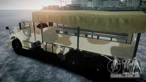 GTA 5 Barracks v2 para GTA 4 vista lateral