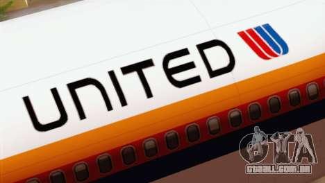 Lookheed L-1011 United Als para GTA San Andreas vista traseira