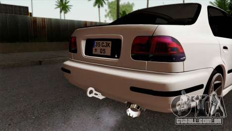 Honda Civic 1.6 para GTA San Andreas vista traseira