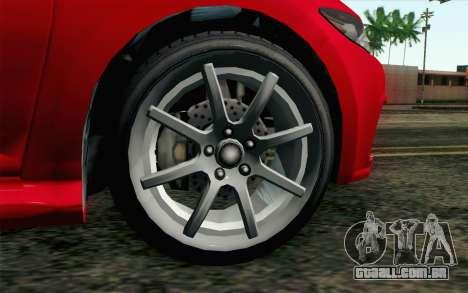 GTA V Dinka Blista para GTA San Andreas traseira esquerda vista