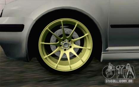 Volkswagen Golf Mk4 2002 Street Daily para GTA San Andreas traseira esquerda vista