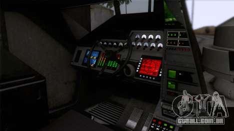 Alien APC M577 para GTA San Andreas vista traseira
