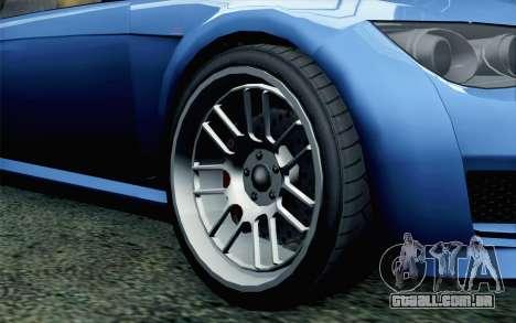 GTA 5 Ubermacht Sentinel Coupe SA Mobile para GTA San Andreas traseira esquerda vista