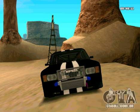 VAZ 2107 CÓLICAS para GTA San Andreas vista superior