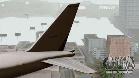 Boeing E-767 Japan Air Self-Defense Force EoJ para GTA San Andreas traseira esquerda vista