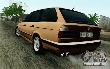 BMW M5 E34 Touring para GTA San Andreas esquerda vista