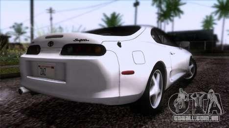 Toyota Supra US-Spec (JZA80) 1993 HQLM para GTA San Andreas esquerda vista