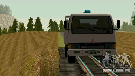 Mitsubishi Fuso Canter 1989 With Crane para GTA San Andreas vista interior