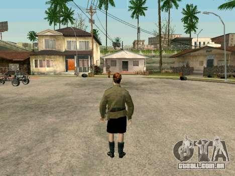 O sargento militar de campo medicina para GTA San Andreas por diante tela