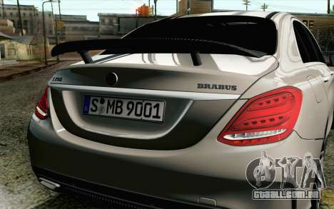 Mercedes-Benz C250 AMG Brabus Biturbo Edition EU para GTA San Andreas vista traseira