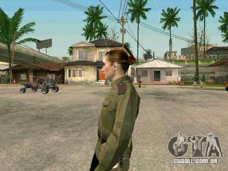 O sargento militar de campo medicina para GTA San Andreas segunda tela
