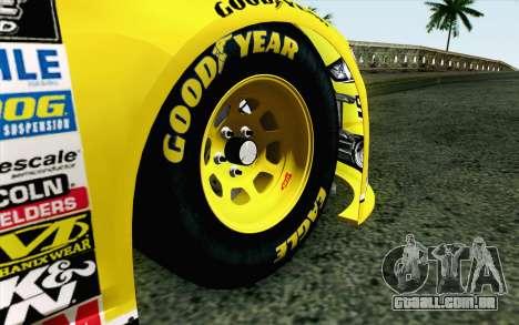 NASCAR Ford Fusion 2013 v4 para GTA San Andreas traseira esquerda vista