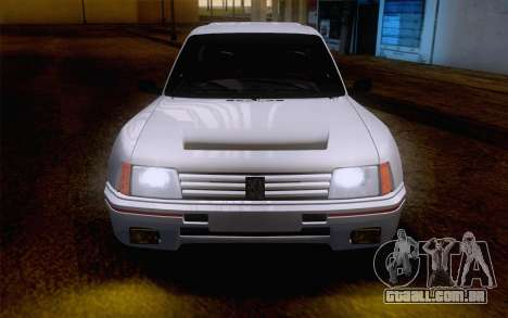 Peugeot 205 Turbo 16 1984 [IVF] para GTA San Andreas vista interior