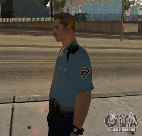 Israeli Police Officer para GTA San Andreas segunda tela