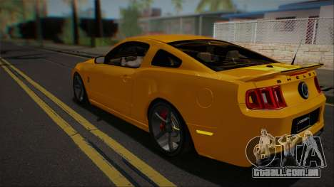 Ford Shelby GT500 2013 Vossen version para GTA San Andreas vista traseira