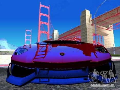 Lamborghini Aventador Novitec Torado para GTA San Andreas vista traseira