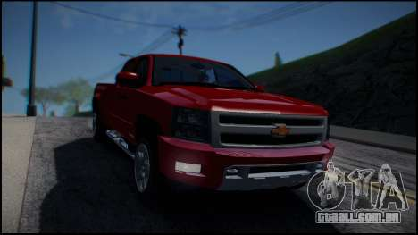 Chevrolet Silverado 1500 HD Stock para GTA San Andreas vista traseira