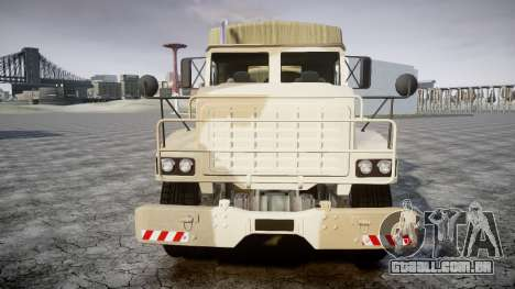 GTA 5 Barracks v2 para GTA 4 traseira esquerda vista