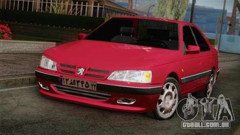 Peugeot Pars para GTA San Andreas vista traseira