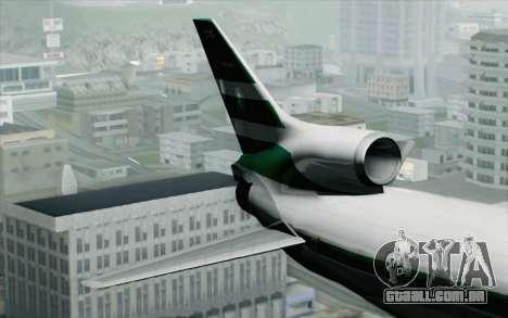 Lookheed L-1011 Cathay P para GTA San Andreas traseira esquerda vista