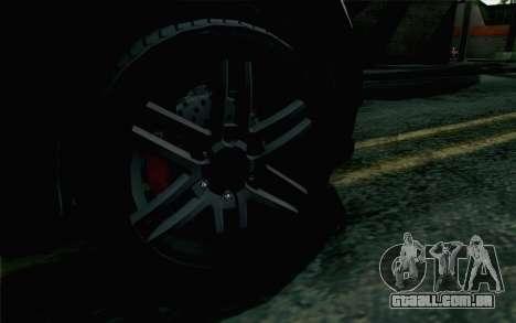 GTA 5 Karin Kuruma v2 Armored IVF para GTA San Andreas traseira esquerda vista