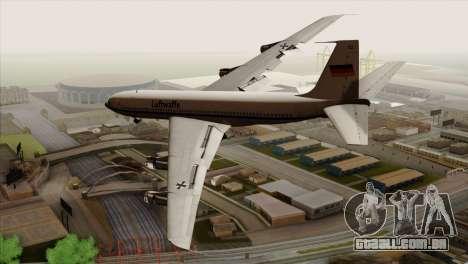 Boeing 707-300 Luftwaffe para GTA San Andreas esquerda vista