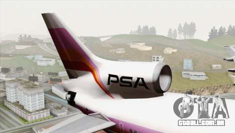 Lookheed L-1011 PSA para GTA San Andreas traseira esquerda vista
