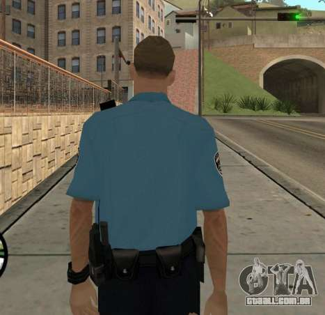 Israeli Police Officer para GTA San Andreas por diante tela
