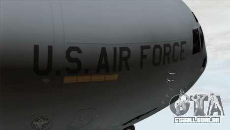 C-17A Globemaster III USAF March para GTA San Andreas vista traseira