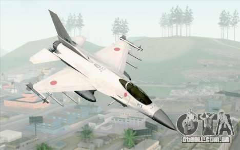 Mitsubishi F-2 White JASDF Skin para GTA San Andreas