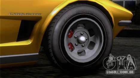 GTA 5 Invetero Coquette Classic HT IVF para GTA San Andreas traseira esquerda vista