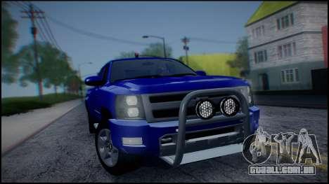 Chevrolet Silverado 1500 HD Stock para GTA San Andreas vista interior