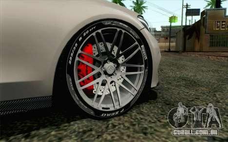 Mercedes-Benz C250 AMG Brabus Biturbo Edition EU para GTA San Andreas traseira esquerda vista