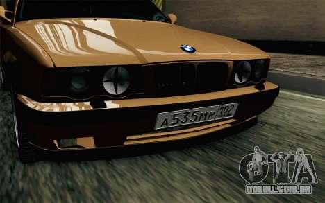 BMW M5 E34 Touring para GTA San Andreas vista traseira