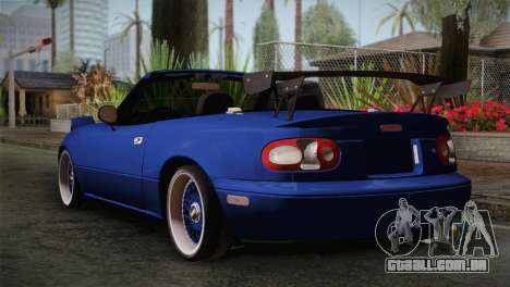 Mazda Miata Cabrio v2 para GTA San Andreas esquerda vista