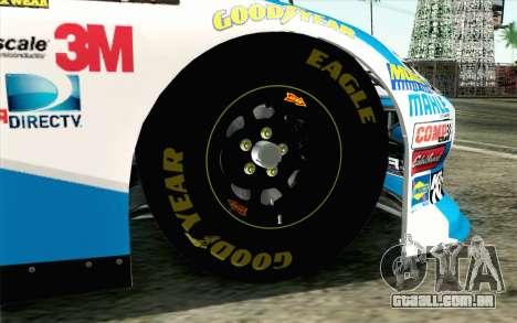 NASCAR Ford Fusion 2012 Plate Track para GTA San Andreas traseira esquerda vista