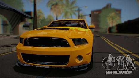 Ford Shelby GT500 2013 Vossen version para GTA San Andreas vista interior