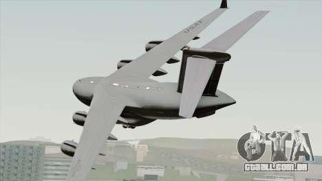 C-17A Globemaster III USAF McChord para GTA San Andreas esquerda vista