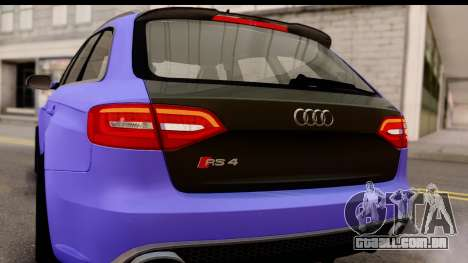 Audi RS4 para GTA San Andreas vista interior