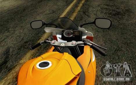 Suzuki GSX-R 600 2015 Orange para GTA San Andreas vista direita