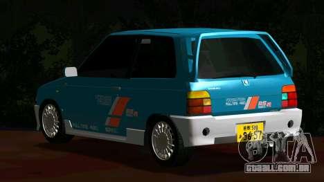 Suzuki Alto Works RS/R para GTA San Andreas traseira esquerda vista