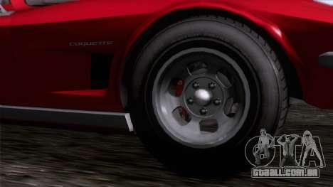 GTA 5 Invetero Coquette Classic TL IVF para GTA San Andreas traseira esquerda vista