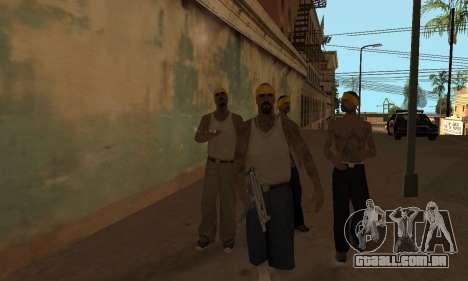 Alteração de áreas de gangues e suas armas v1.1 para GTA San Andreas segunda tela