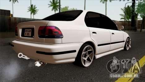 Honda Civic 1.6 para GTA San Andreas esquerda vista