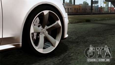 Audi RS4 Avant B8 2013 v3.0 para GTA San Andreas traseira esquerda vista