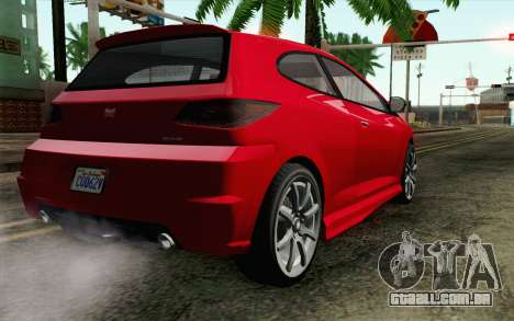 GTA V Dinka Blista para GTA San Andreas esquerda vista