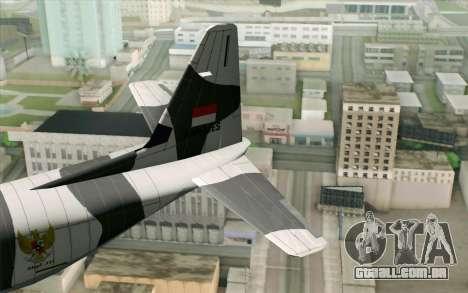 Lockheed C-130 Hercules Indonesian Air Force para GTA San Andreas traseira esquerda vista