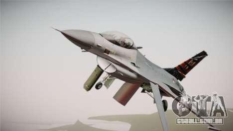 F-16 Fighting Falcon 50th Anniv. of Squadron 313 para GTA San Andreas vista direita