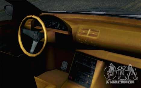 GTA 5 Ubermacht Sentinel XS para GTA San Andreas vista traseira